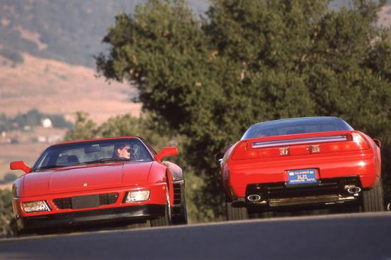 1992 acura nsx and ferrari 348 tb 001