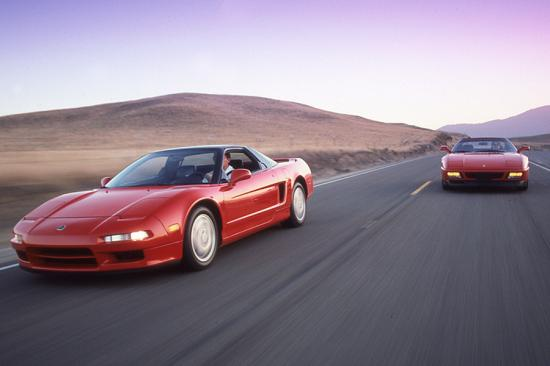 1992 acura nsx and ferrari 348 tb 002
